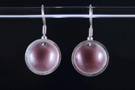 Boucles-oreilles-rondes-concaves-en-argent-925-émaillées-T2