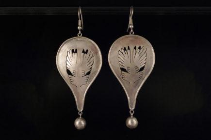 Boucles d'oreilles oiseaux ailes en argent 925