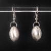 Boucles d'oreilles arrondis convexes en argent 925
