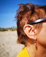 Boucles-d'oreilles-portées-argent 925